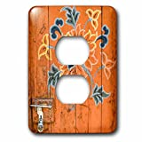 3dRose Danita Delimont - Artwork - Ornamented door, Chimi Lhakhang, Bhutan - Light Switch Covers - 2 plug outlet cover (lsp_257043_6)