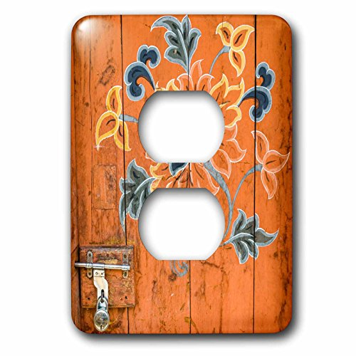 3dRose Danita Delimont - Artwork - Ornamented door, Chimi Lhakhang, Bhutan - Light Switch Covers - 2 plug outlet cover (lsp_257043_6) by 3dRose