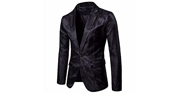 Mens Charm Casual Jacket-One Button Fit Suit Blazer Coat Jacket Tops at Amazon Mens Clothing store: