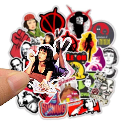 USA Classic Movie Character Stickers Cartoon Laptop Stickers Cute Girl Vinyl Sticker Computer Car Skateboard Motorcycle Bicycle Luggage Guitar Bike Decal 50pcs Pack (Classic Movie Character)