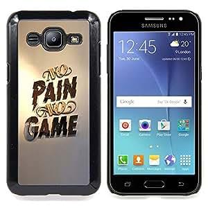 GIFT CHOICE / Teléfono Estuche protector Duro Cáscara Funda Cubierta Caso / Hard Case for Samsung Galaxy J2 / J200 // No Pain No Game Gold Pc Gaming //