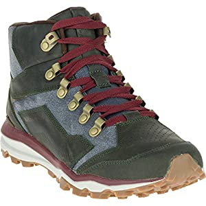 Merrell MEN'S ALL OUT CRUSHER MID WALKING BOOTS, Black, US8.5