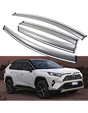 SPEEDLONG Car Window Visor Vent Shade Deflector Sun/Rain/Fog Guard Compatible with Toyota RAV4 / RAV4 Hybrid 2019 2020 2021