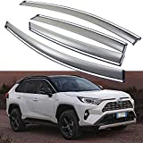 SPEEDLONG 4Pcs Car Window Visor Vent Shade Deflector Sun/Rain Guard for Toyota RAV4 / RAV4 Hybrid 2019 2020