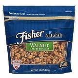 Fisher Chef's Naturals Walnut Halves & Pieces 10 oz ( 2 pack )