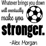"""United States Soccer Decal - Alex Morgan Quote - Bedroom Vinyl Wall Decoration - 20""""x18"""""""