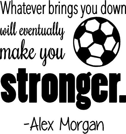 Soccer Quote | Amazon Com United States Soccer Decal Alex Morgan Quote Bedroom