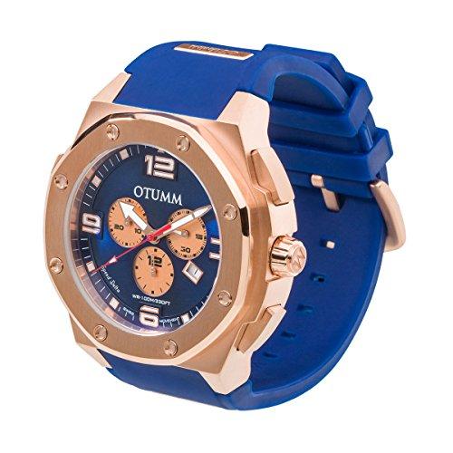 OTUMM Reloj para Hombre de con Correa en Silicona 7222: Amazon.es: Relojes