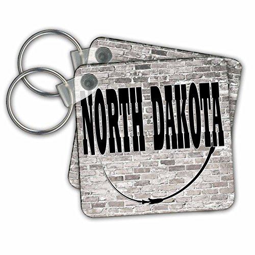 Bismarck Chain - RinaPiro - US States - North Dakota. State Capital is Bismarck. - Key Chains - set of 2 Key Chains (kc_268713_1)