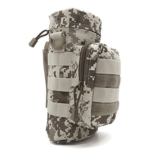 Water Bottle Pouch Holder Bag Pack Molle Bottle Carrier Outdoor Travel Camping Tactical Military Trekking Cycling (Desert Digital,Desert camouflage)