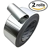 Aluminum Tape/Aluminum Foil Tape - 2 Rolls, Each 2 Inch x 60 Yards (51mm x 55m) Professional HVAC Tape