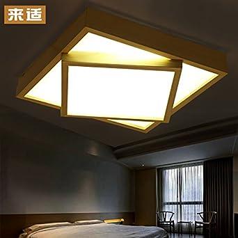 KHSKX Lámpara de techo, techo de madera sólidos simples ...