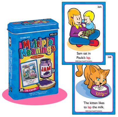 Super Duper Publications Multiple Meanings Fun Deck Flash Cards Educational Learning Resource for Children