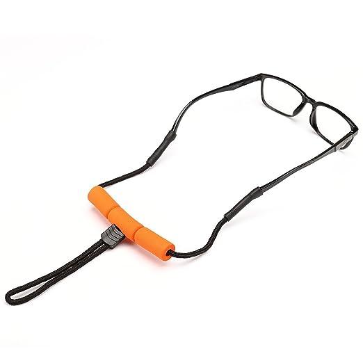 SGerste flottant Lunettes en forme de lunettes de soleil Sangle de fixation pour sangle de lunettes de lecture pour sports d'eau Rafting Drift FIS K8cmna