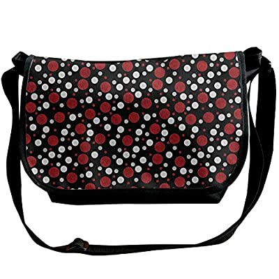 Lovebbag Retro 60s 70s Cartoon Snow Like Polka Dots Circles Rounds Crossbody Messenger Bag best