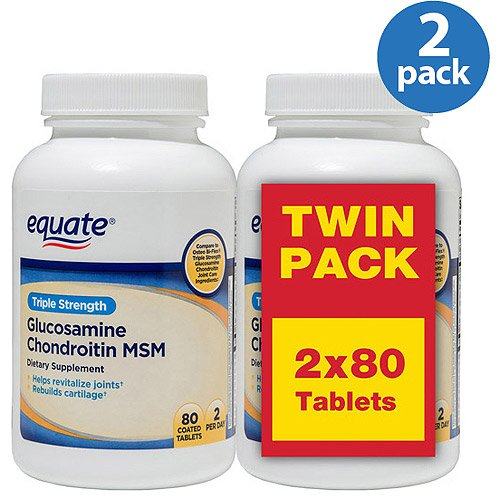 Equate Triple Strength Glucosamine Chondroitin MSM Tablets,