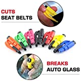 5 Pcs Car Escape Rescue Tool Keychain Glass Breaker Seatbelt Cutter Mini Hammer Emergency Rescue Tool Glass Breaker Car Safety Tool Window Broken Tool Seat Belt Cutter