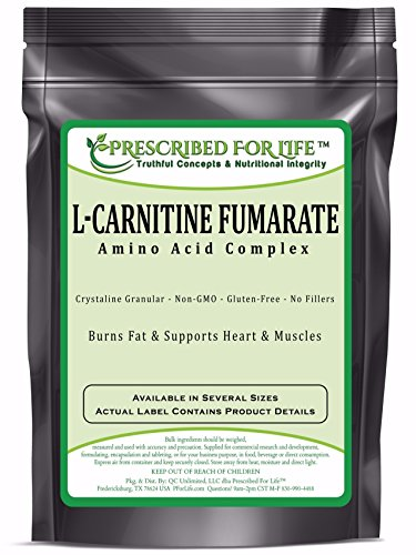 Carnitine Fumarate (L) - Amino Acid Weight Management Crystalline Powder, 5 lb by Prescribed For Life