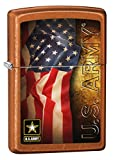Zippo US Army American Flag Toffee Pocket Lighter