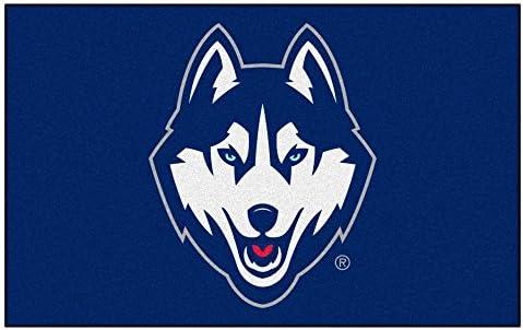 FANMATS NCAA University of Connecticut Huskies Nylon Face Ultimat Rug