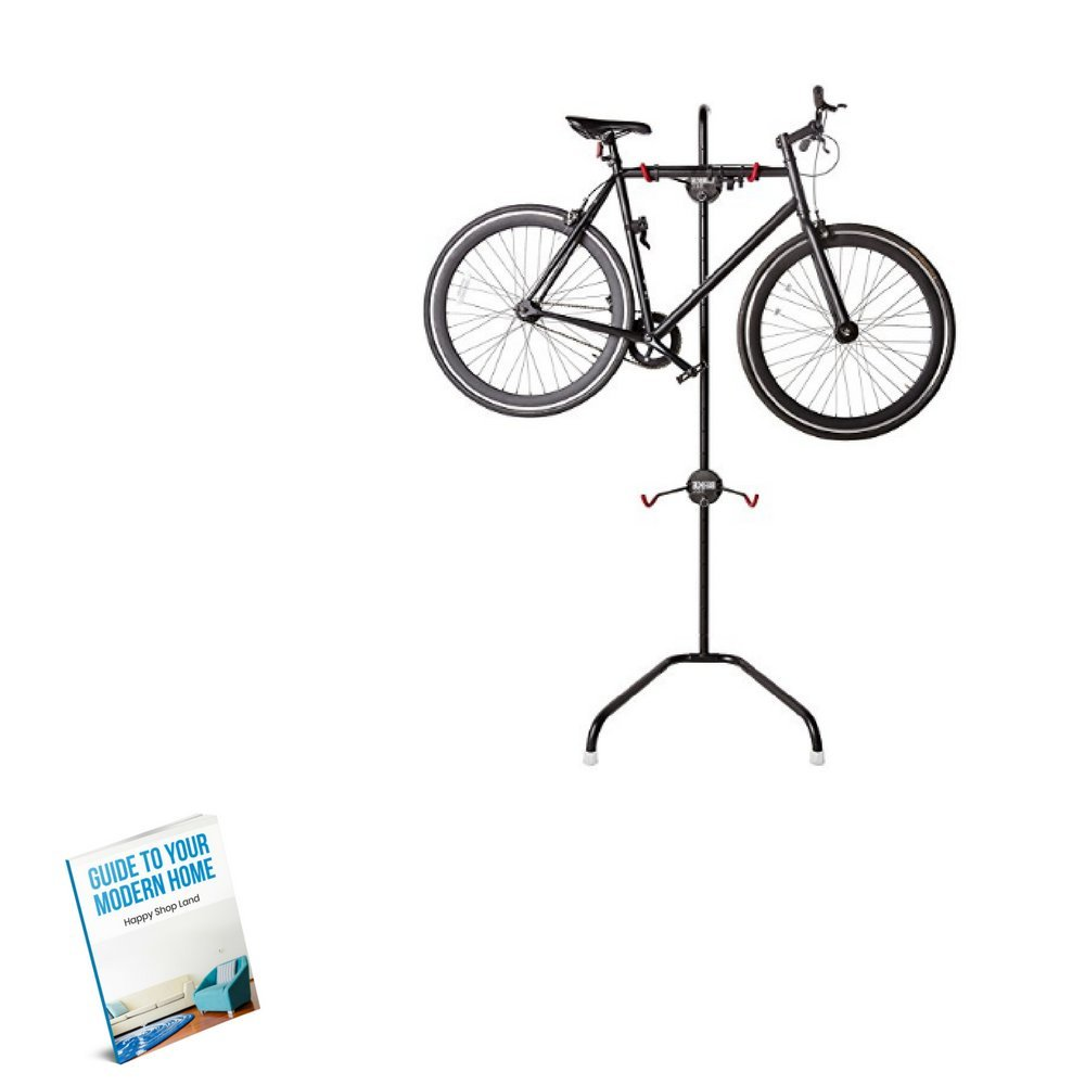 Bike Rack Standing, Good Quality Material, Ideal For Two, Black Color, Free Standing, Easy Cleaning With A Dry Cloth, Easy Assembly, Simple Design, Sturdy And Durable Construction & E-Book