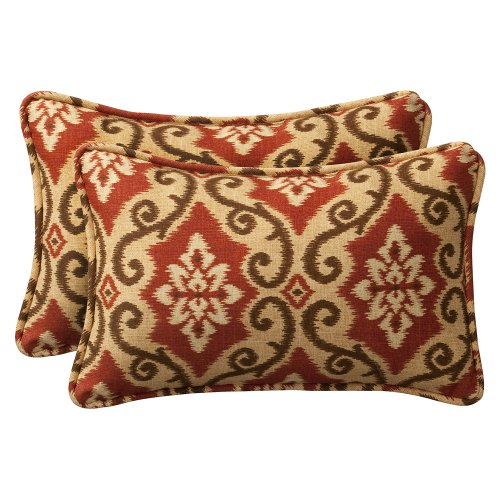 Pillow Perfect Decorative Damask Rectangle