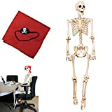 Spooktacular Creations 5FT Pose-N-Stay Life Size Skeleton for Halloween Pose Skeleton Decoration