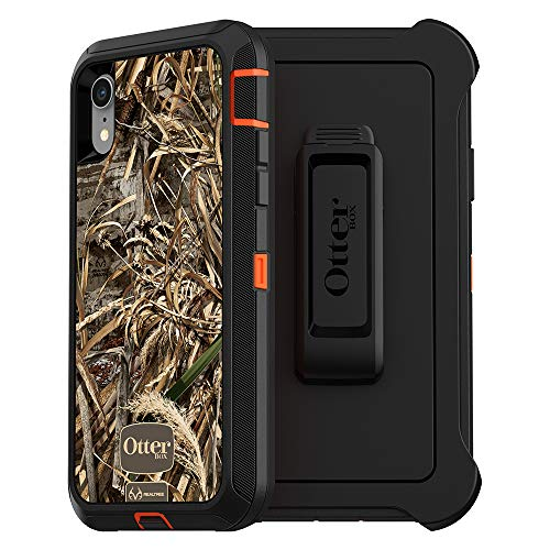 OtterBox Defender Series SCREENLESS Edition Case for iPhone Xr - Retail Packaging - RT MAX 5 HD (Blaze Orange/Black/MAX 5 HD Graphic) ()