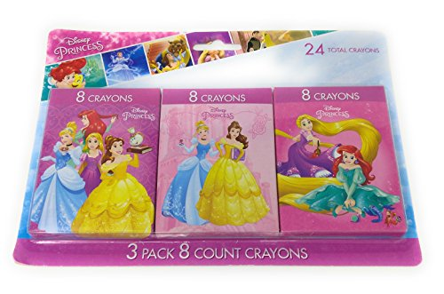 Back to School Toddler Pre-school Elementary School Supplies Crayons Disney Princess Beauty Little Mermaid Belle Cinderella (2 Piece (Disney The Little Mermaid Sparkle Birthday Banner)