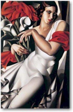 Portrait of Ira by Tamara de Lempicka. Vintage Fine Art Reproduction Art Deco Poster (24 x 36) - De Lempicka Art Deco Print