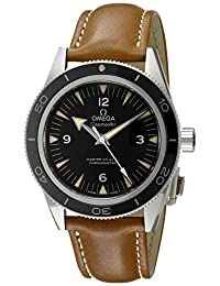 Omega Men's 'Seamaster' Swiss Stainless Steel and Brown Leather Automatic Watch (Model: 23332412101002)