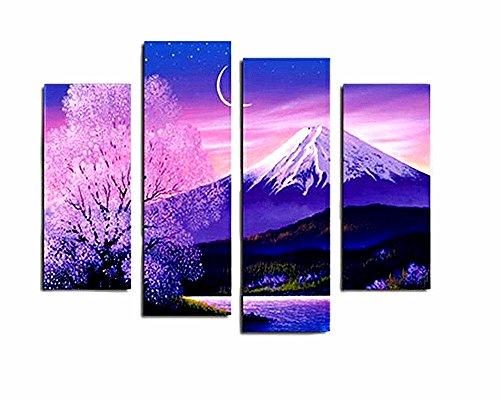 Japan Nature Beautiful Mount Fuji Peak Cherry Blossoms