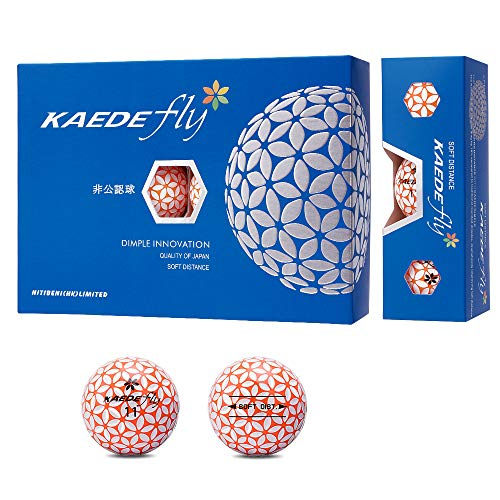 KAEDE Fly Double Colored Distance Golf Balls (One Dozen)(2-Layer)