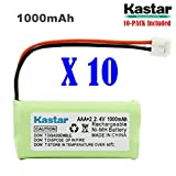 Kastar 10-PACK AAAX2 2.4V EH 1000mAh Ni-MH Rechargeable Battery for BT184342 BT284342 BT18433 BT28433 BT1011 BT-1022 BT-1031 Vtech CS6229 DS6301 Uniden Wxi3077 ECT4066 DECT4096 Motorola Cordless phone