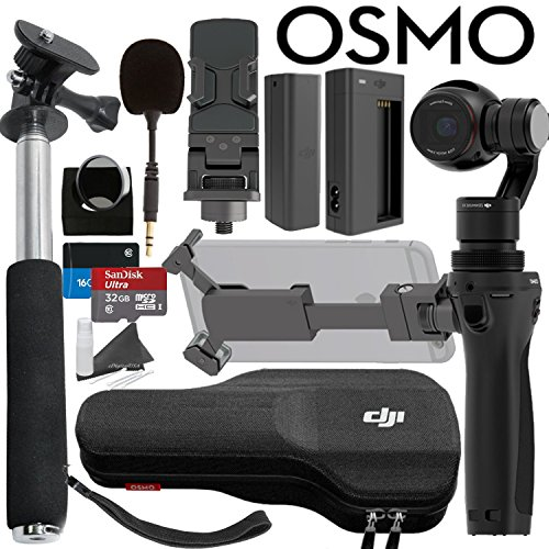 DJI OSMO Bundle: Includes SanDIsk 32GB MicroSD Card, Selfie Stick and more... by DJI