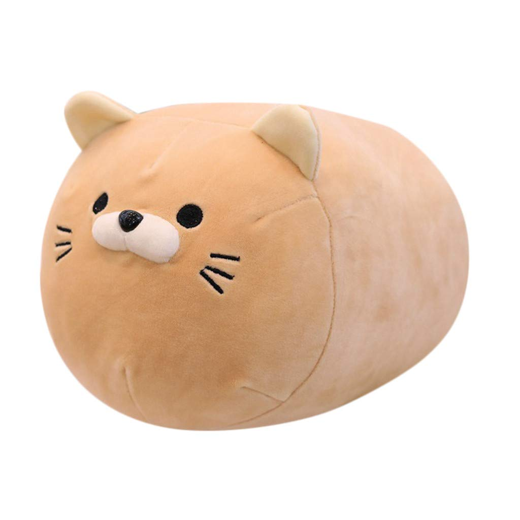 Clearance Sale!JPJ(TM)1Pcs Kids Hot Fashion Anime kitten Inu Plush Stuffed Sofa Pillow Doll Cartoon Cute kitten Soft Toy (Yellow)