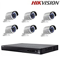 Hikvision CCTV Kits NVR DS-7608NI-E2/8P 8CH 8ports POE Up to 6MP Resolution + Hikvision 4MP IP Camera DS-2CD2042WD-I + Seagate 2TB HDD (8 Channel + 6 Camera)
