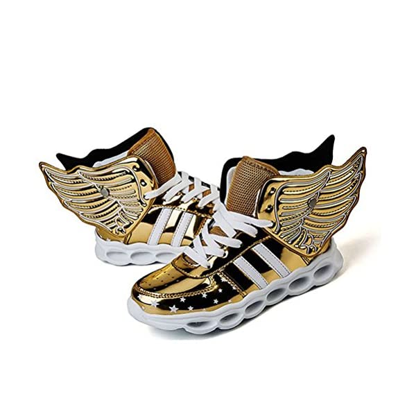 Red Silver Gold Light Up Shoes with Wings for Kids - iLED Shoes b6dc4c6cd