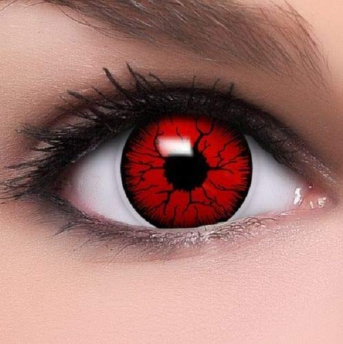 Oanono Multi-Coloured Contact Lenses Kontaktlinsen Color Contacts Lens Color Halloween 1 Pair With A Contact Lens Case for $<!--$11.99-->