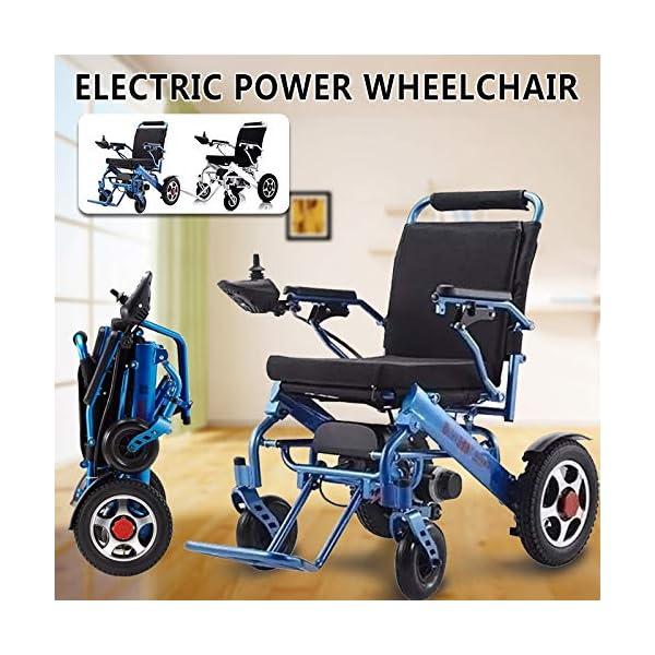 GFKSMS Leggero Portatile Sedia a rotelle Pieghevole Mobilità Electric Power per Vecchi Anziani disabili 1 spesavip