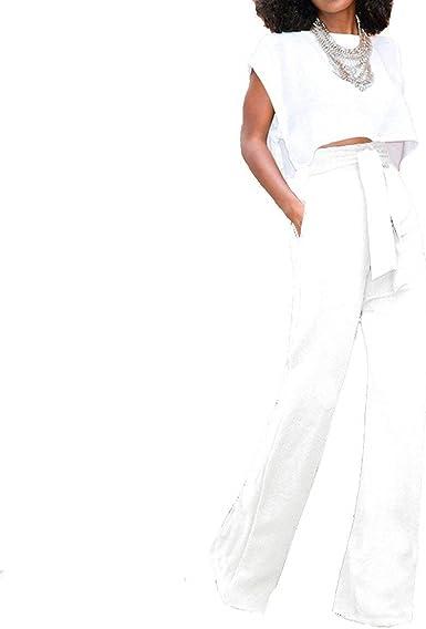 Mujer Pantalones De Traje Fashion Cintura Alta Unicolor Pantalones Palazzo Fiesta Pantalon Anchos Coctel Party Pantalones De Negocios Elegantes Especial Estilo De Noche Amazon Es Ropa Y Accesorios
