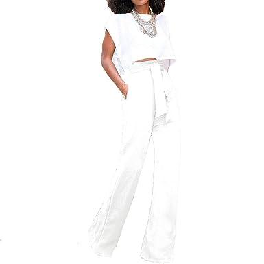 Femme Fashion Haute Costume Unie Pantalons Couleur Pantalon Taille HIYW9ED2