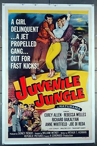 Juvenile Jungle (1958) Original Movie Poster