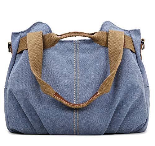 Z-joyee Women's Ladies Casual Vintage Hobo Canvas Daily Purse Top Handle Shoulder Tote Shopper Handbag Satchel Bag ()