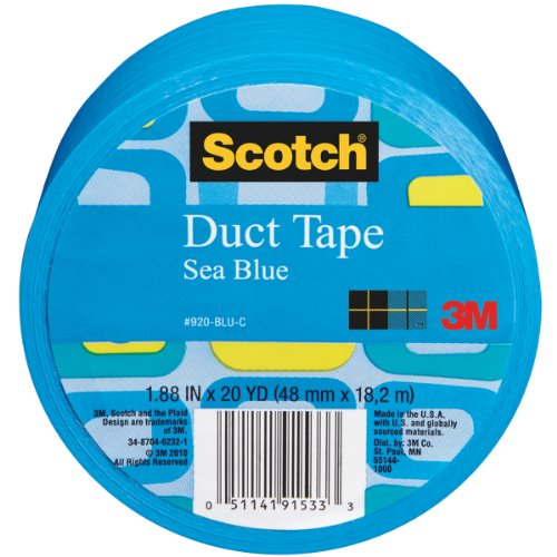 Scotch Duct Tape, Sea Blue, 1.88-Inch by 20-Yard (Blue Duct Tape)