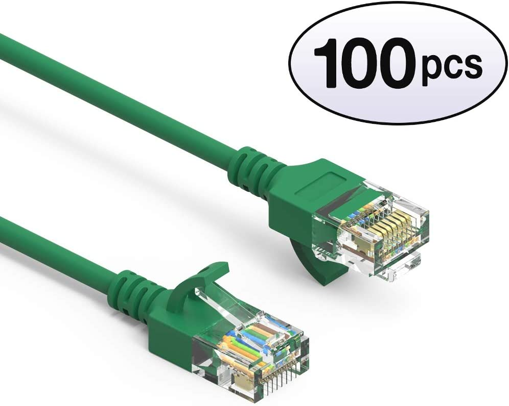 550MHz 28AWG Network Cable with Gold Plated RJ45 Molded//Booted Connector 30 Feet - Orange 10 Gigabit//Sec High Speed LAN Internet//Patch Cable GOWOS Cat6a Slim UTP Ethernet Cable