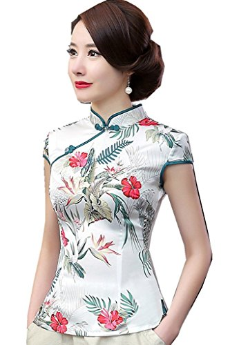 Shanghai Story Women's Faux Silk Tang Suit Chinese Shirt Blouse Top 10 98A ()