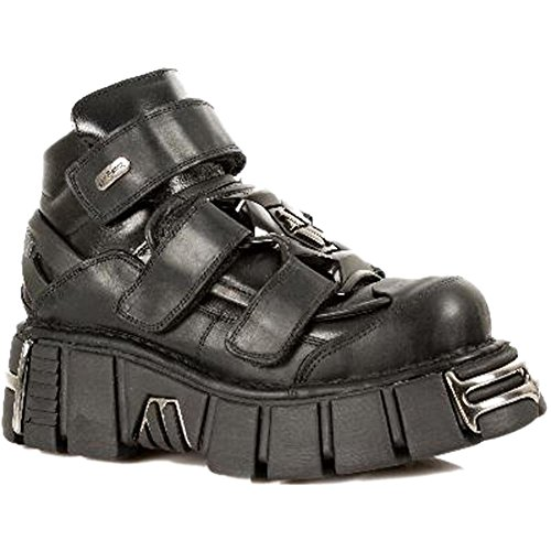 Newrock punk Chaussures Gothique En M Métallisé Cuir Noir s1 285 Unisexe zTxxtqEf