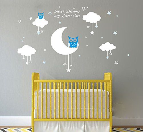 LUCKKYY Sweet Dreams My Little Owl Wall Decal Vinyl Wall Sticker ...