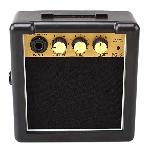 Amplifier Us Amps ({US STOCK}Teekland Portable Mini Electric Guitar Amplifier Black and Golden)